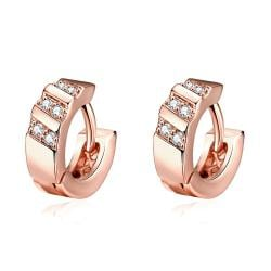 Rose Gold Plated Classic Inspired Mini Hoop Earrings - Thumbnail 0