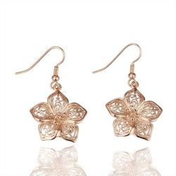 Vienna Jewelry 18K Rose Gold Earrings Rose Petals Earrings Made with Swarovksi Elements