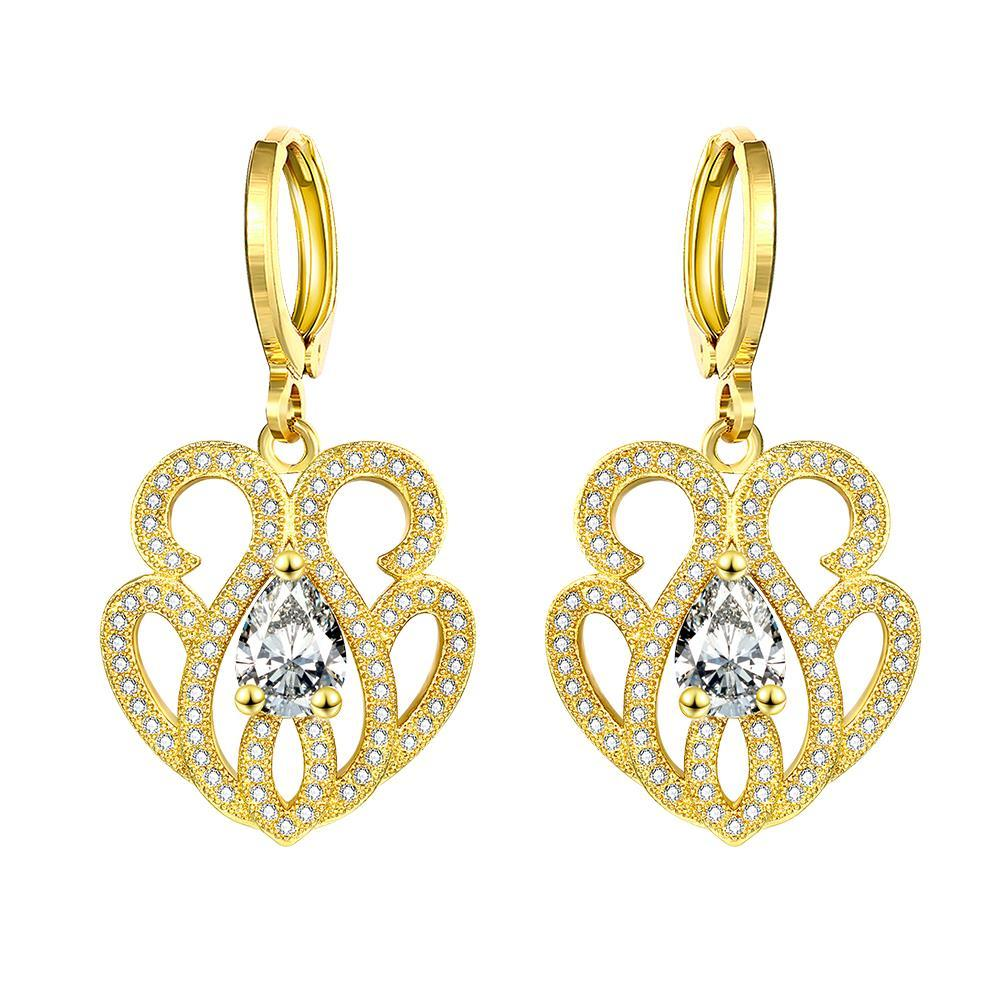 Vienna Jewelry Gold Plated Circular Chandelier Drops