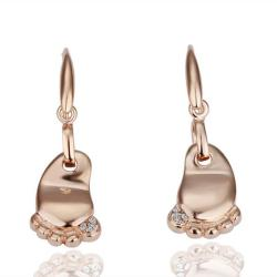 Vienna Jewelry 18K Rose Gold Cute Toes Earrings Made with Swarovksi Elements