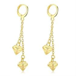 Vienna Jewelry Gold Plated Triangular Dangling Drop Earrings