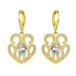 Vienna Jewelry Gold Plated Circular Chandelier Drops - Thumbnail 0