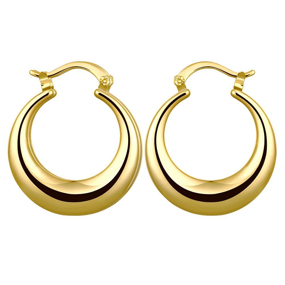 Vienna Jewelry Gold Plated Twotoned Hoop Earrings