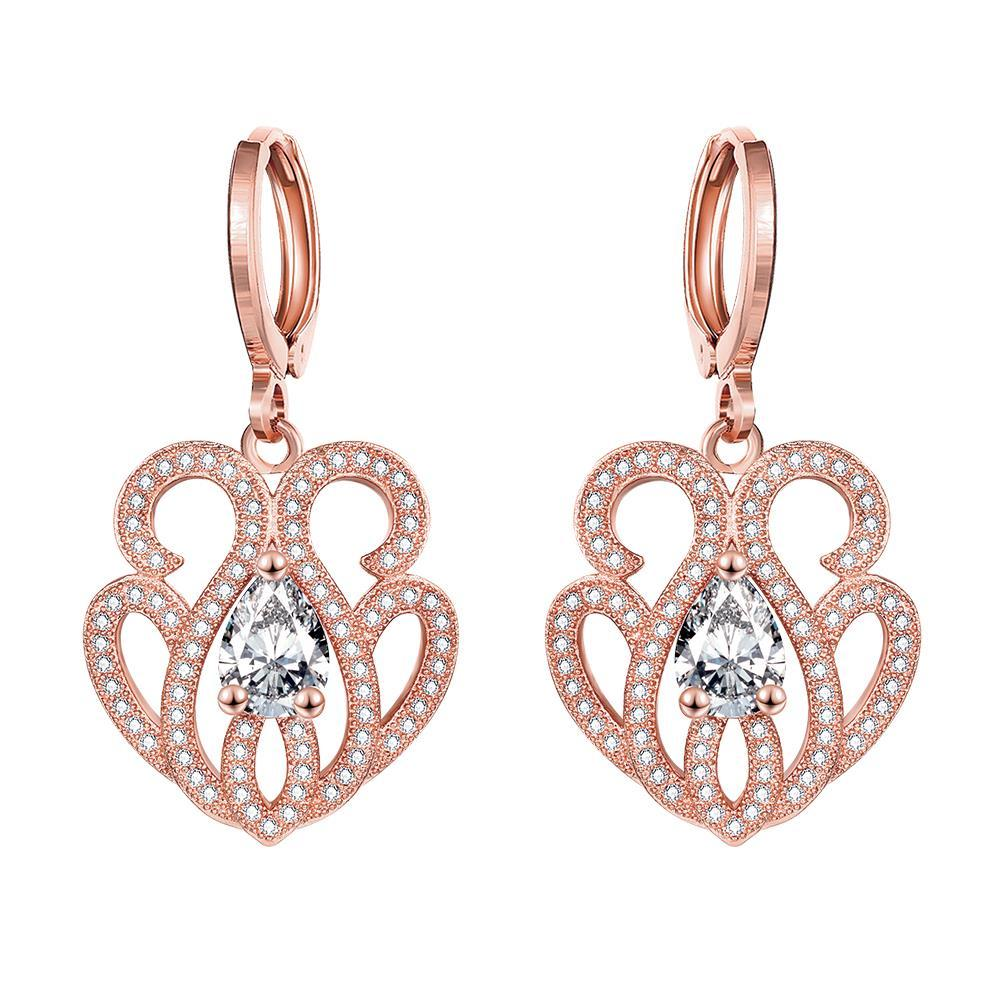Vienna Jewelry Rose Gold Plated Circular Chandelier Drops