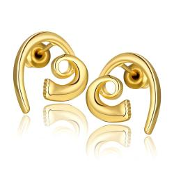 Vienna Jewelry 18K Gold Abstract Heart Shaped Earrings Made with Swarovksi Elements