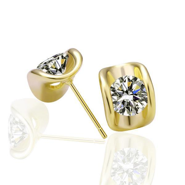 Vienna Jewelry 18K Gold Earrings with Austrian Crystal Jewels Made with Austrian Crystal Elements