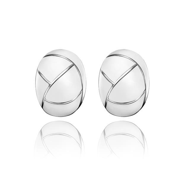 Vienna Jewelry 18K White Gold Inline Acorn Shaped Ivory Stud Earrings Made with Swarovksi Elements