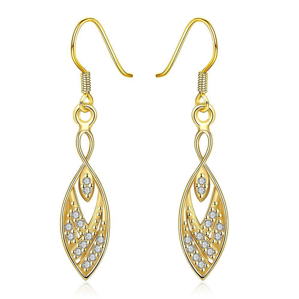 Vienna Jewelry Gold Plated Tree Branch Inspired Drop Down Earrings