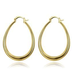Vienna Jewelry Gold Plated Endless Hoop Earrings with Snap Backs