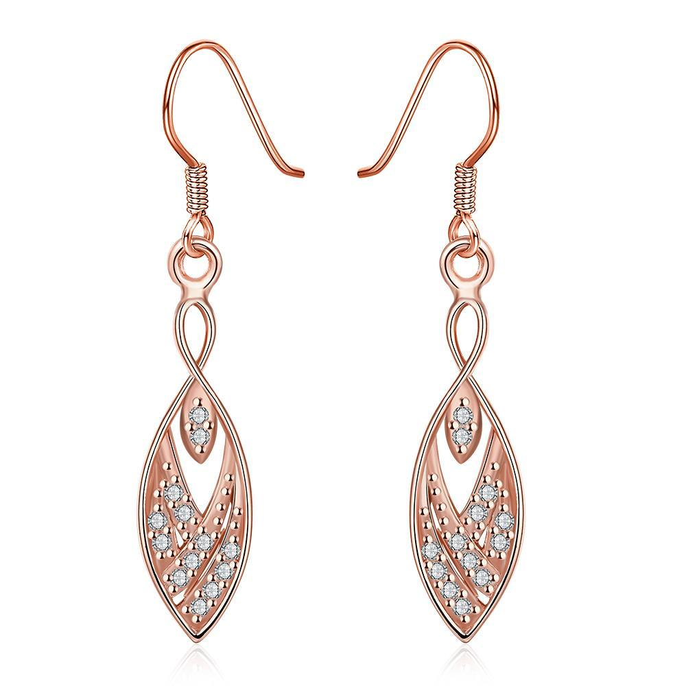 Vienna Jewelry Rose Gold Plated Tree Branch Inspired Drop Down Earrings