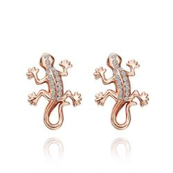Vienna Jewelry 18K Rose Gold Salamander Stud Earrings Made with Swarovksi Elements - Thumbnail 0