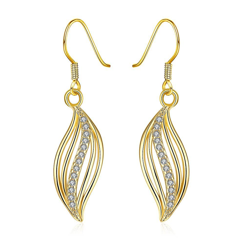 Vienna Jewelry Gold Plated Comet Inspired Drop Down Earrings
