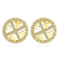 Vienna Jewelry Gold Plated Classic Circular Stud Earrings - Thumbnail 0