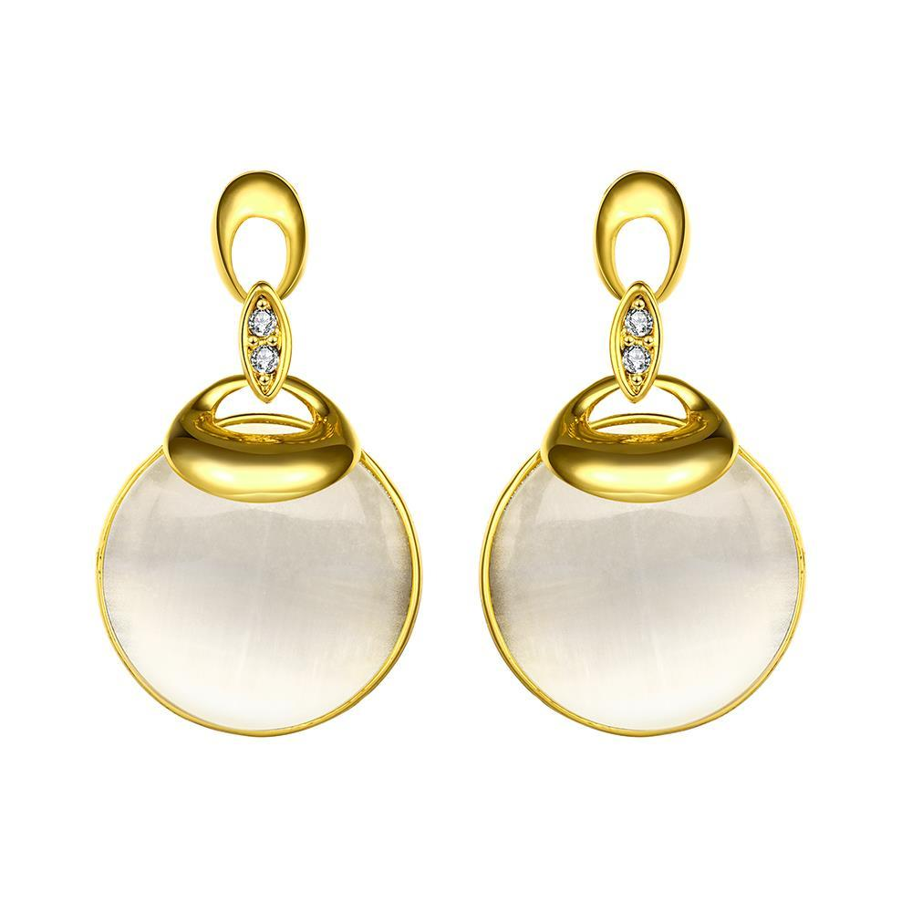 Vienna Jewelry 18K Gold Drop Down Earrings with Pearl Drop Made with Swarovksi Elements