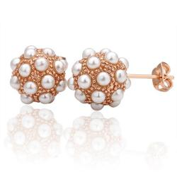 Vienna Jewelry 18K Gold Studded Austrian Crystal Stud Earrings Made with Austrian Crystal Elements