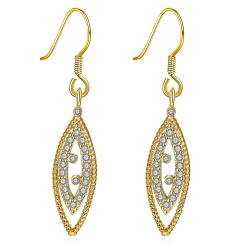 Vienna Jewelry Gold Plated Classic Roman Inspired Drop Down Earrings - Thumbnail 0