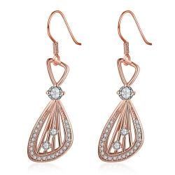 Vienna Jewelry Rose Gold Plated Grape Vine Drop Down Earrings - Thumbnail 0