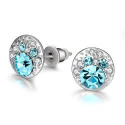 Vienna Jewelry 18K Italian Periwinkle Stud Earring - Thumbnail 0