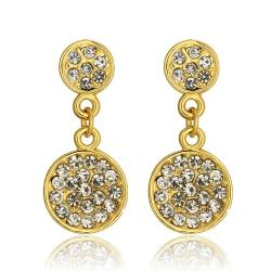Vienna Jewelry 18K Gold Classic 5th Avenue Drop Down Earrings Made with Swarovksi Elements