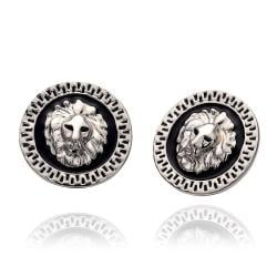 Vienna Jewelry 18K White Gold Petite Stud Earrings Made with Swarovksi Elements - Thumbnail 0