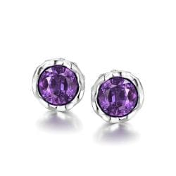 Vienna Jewelry 18K Gold Plated Gemstone Bullet Studs - Thumbnail 0
