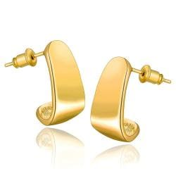 Vienna Jewelry 18K Gold Abstract Triangle Stud Earrings Made with Swarovksi Elements - Thumbnail 0