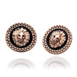 Vienna Jewelry 18K Rose Gold Petite Stud Earrings Made with Swarovksi Elements