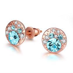 Vienna Jewelry 18K Italian Periwinkle Stud Earring