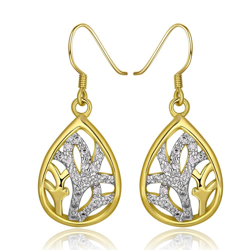 Vienna Jewelry 18K Gold Classic Tree Branch Drop Down Earrings Made with Swarovksi Elements