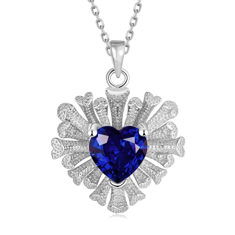 Vienna Jewelry White Gold Plated Overlayering Heart Necklace