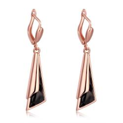 Vienna Jewelry Gold Plated Drop Earrings - Thumbnail 0
