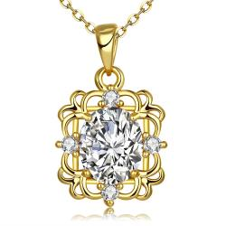 Vienna Jewelry Gold Plated Snowflake Within Necklace