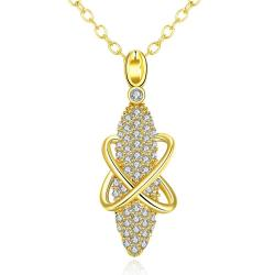 Vienna Jewelry White Gold Plated Vertical Gem Necklace - Thumbnail 0