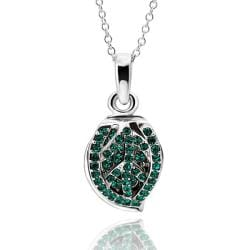 Vienna Jewelry White Gold Plated Emerald Jewels Covering Shield Necklace - Thumbnail 0