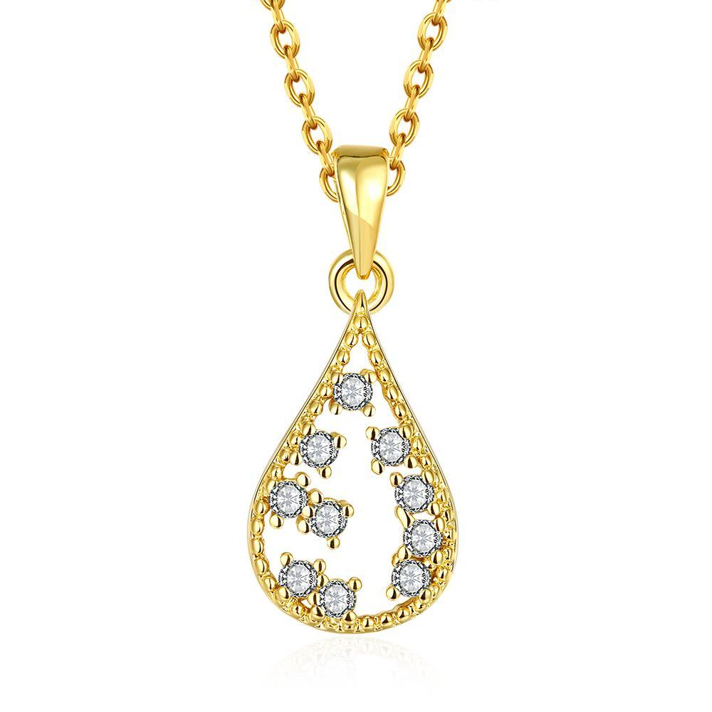 Vienna Jewelry Gold Plated Jewels Ingrain Necklace