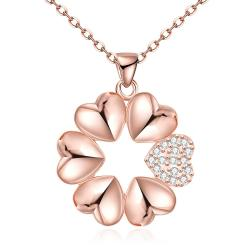 Vienna Jewelry Rose Gold Plated Large-Cut Snowflake Necklace - Thumbnail 0