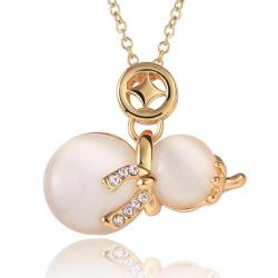 Vienna Jewelry Gold Plated Duo-Ivory Pearl Necklace - Thumbnail 0