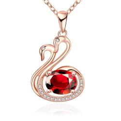 Vienna Jewelry Rose Gold Plated Peacefull Dove Necklace - Thumbnail 0