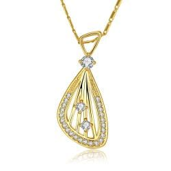 Vienna Jewelry Gold Plated Harp Design Necklace - Thumbnail 0