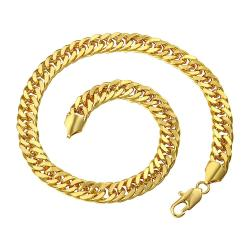 Vienna Jewelry Gold Plated Spiral Interlocking Chain Necklace