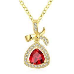 Vienna Jewelry Gold Plated Classic Triangular Necklace