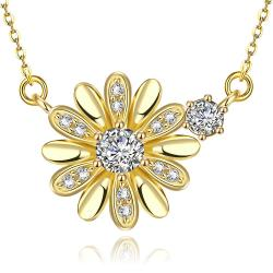 Vienna Jewelry Gold Plated Snowflake * Pendant Necklace - Thumbnail 0