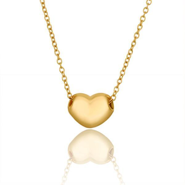 Vienna Jewelry Gold Plated Petite Heart Shaped Necklace