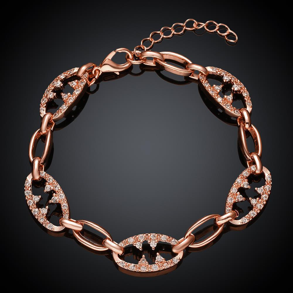 Vienna Jewelry Rose Gold Plated Elements of the World Bracelet