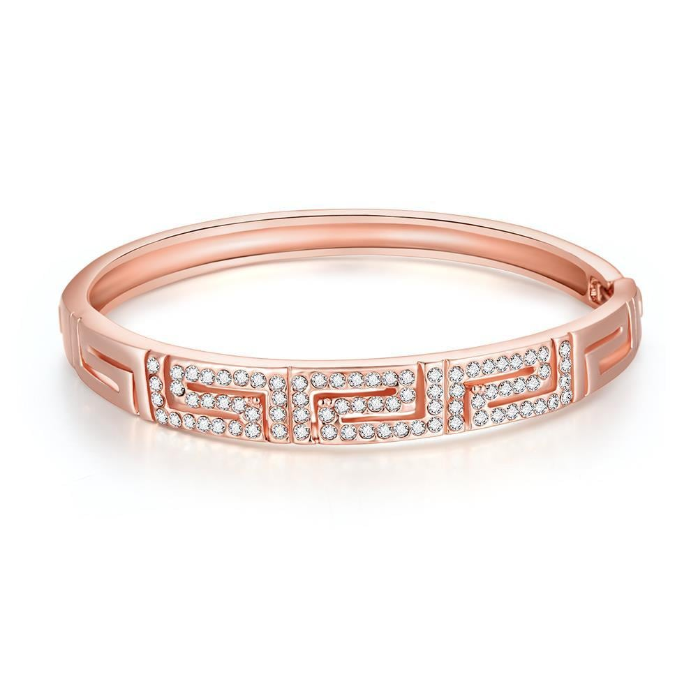 Vienna Jewelry 18K Rose Gold Maze Bracelet