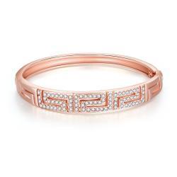 Vienna Jewelry 18K Rose Gold Maze Bracelet - Thumbnail 0