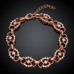 Vienna Jewelry Rose Gold Plated Hippie Daisy Bracelet - Thumbnail 0