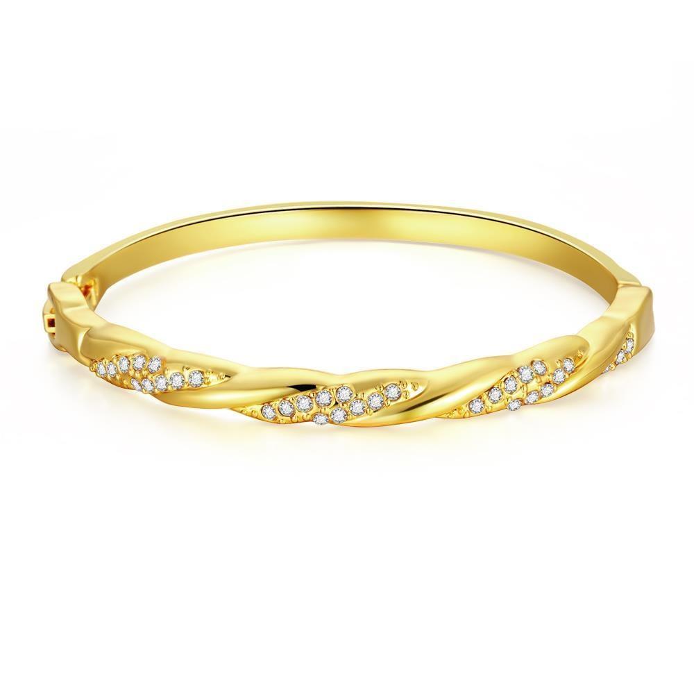 Vienna Jewelry 18K Gold Plated Italian Nuava Bracelet