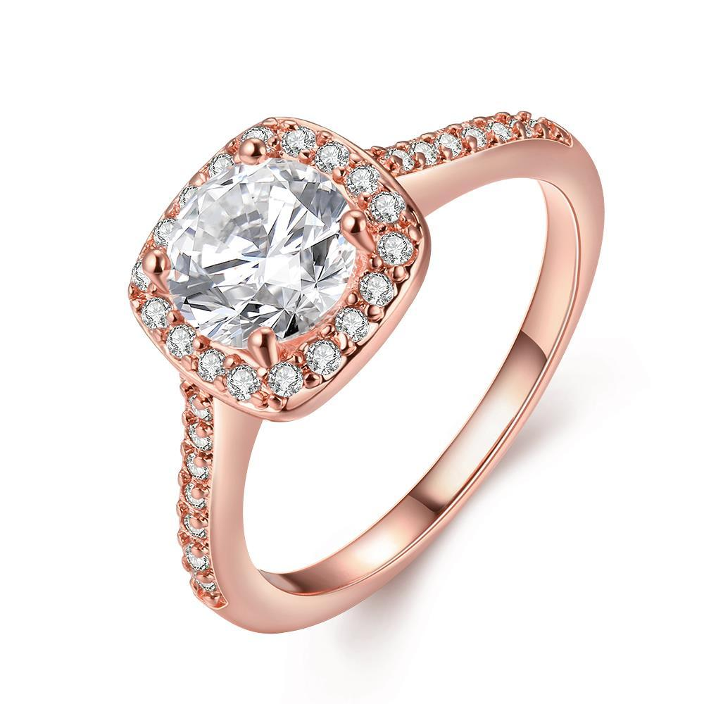Vienna Jewelry 18K Rose Gold Plated Geometric Ring Size 6