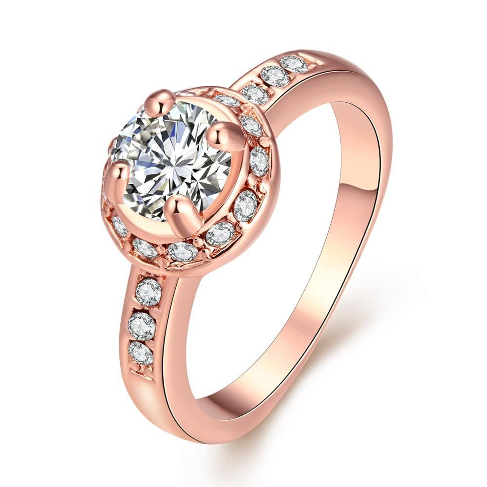 Vienna Jewelry Micro-Insert Ring Rose Gold Size 8